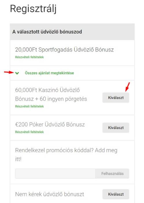 Unibet kaszinó regisztració