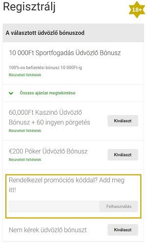 Unibet promóciós kód - Unibet regisztracio